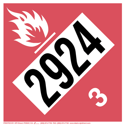 Flammable 3 (2924) - (25 /Pack)