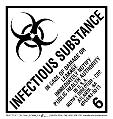 Infectious Substance 6 - (500 /Roll)