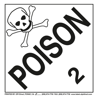 Poison Gas 2 Worded - (25 /Pack)