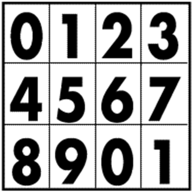 Number Labels for Orange Panels