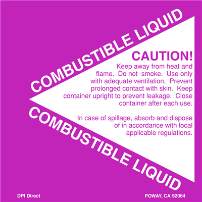 Combustible Liquid - (500 /Roll)