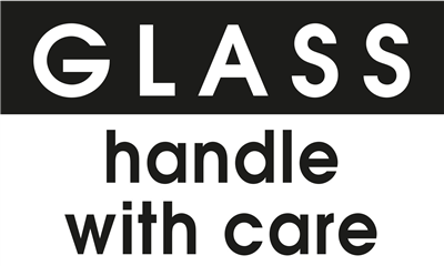 Glass Handle With Care - (500 /Roll)