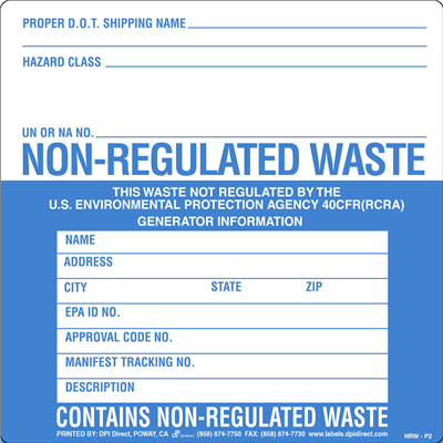Non-Regulated Waste (P2) - 6x6
