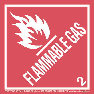 Flammable Gas 2 - (500 /Roll)