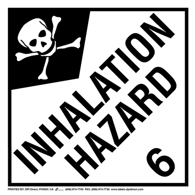 Inhalation Hazard 6 Worded - (25 /Pack)