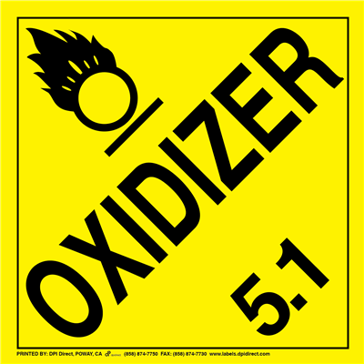 Oxidizer 5.1 Worded - (25 /Pack)
