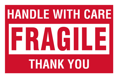 Fragile Handle With Care - (500 /Roll)