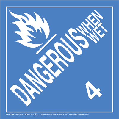 Dangerous When Wet 4 Worded - (25 /Pack)