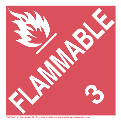 Flammable 3 Worded - (25 /Pack)