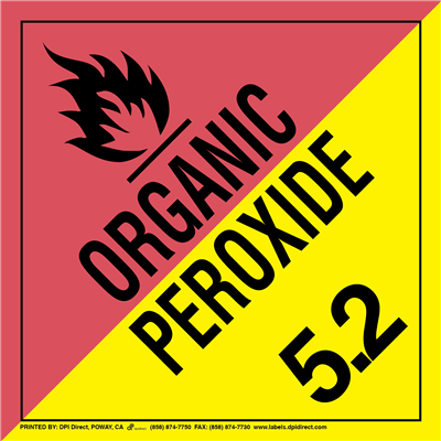 Organic Peroxide 5.2 Worded - (25 /Pack)