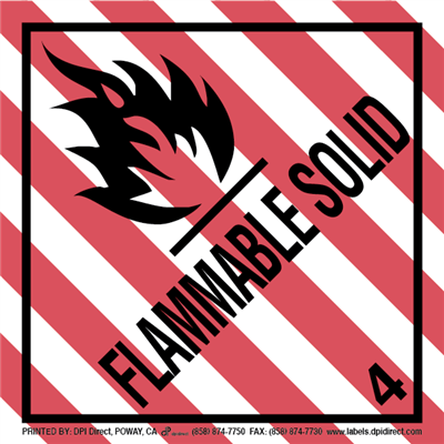 Flammable Solid 4 - (500 /Roll)