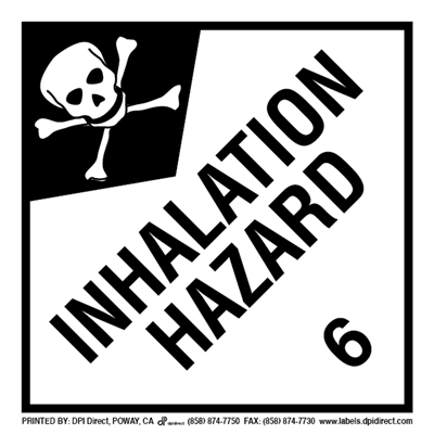 Inhalation Hazard 6 - (500 /Roll)