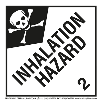 Inhalation Hazard 2 Worded - (25 /Pack)