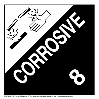 Corrosive 8 Worded - (25 /Pack)