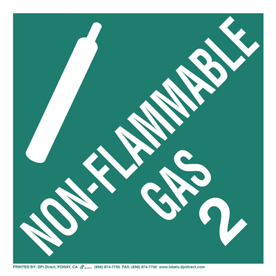 Non-Flammable Gas 2 Worded - (25 /Pack)