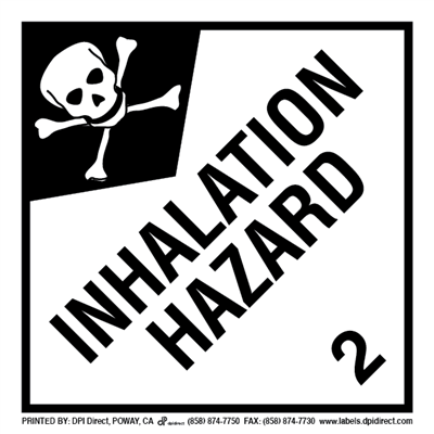 Inhalation Hazard 2 - (500 /Roll)