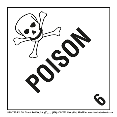Poison 6 Worded - (25 /Pack)