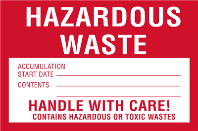 Hazardous Waste Accumulation - (500 /Roll)