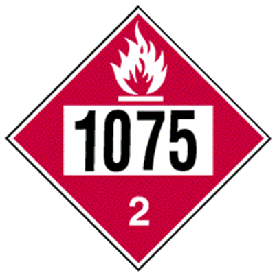 Flammable Gas 2 (1075) - (25 /Pack)
