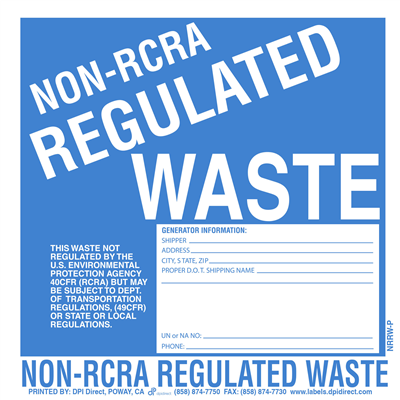 Non-RCRA Regulated Waste Custom