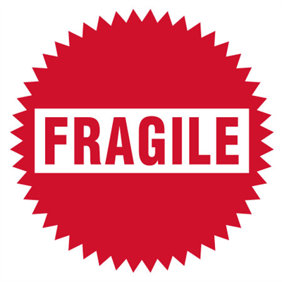 Circle Fragile Label - (500 /Roll)