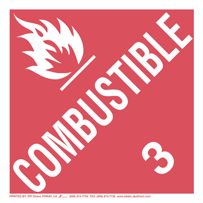 Combustible 3 Worded - (25 /Pack)