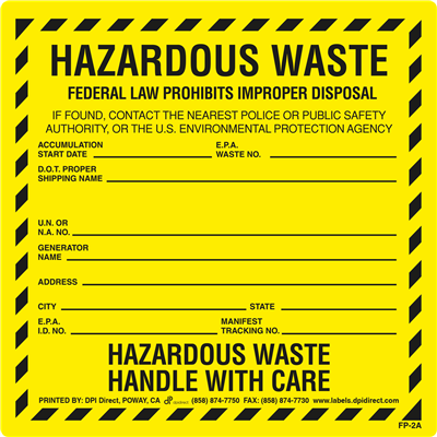 FP-2A - 6x6 Hazardous Waste