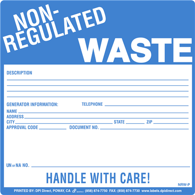 Non-Regulated Waste (P) - 6x6