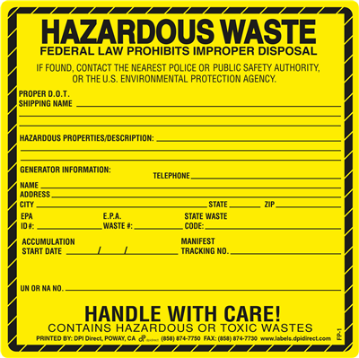 FP-1 - 6x6 Hazardous Waste